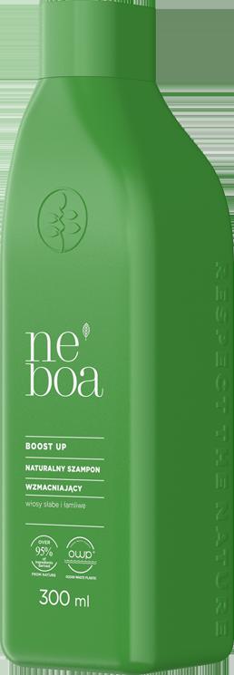 Boost up naturalny szampon wzmacniający, włosy słabe i łamliwe